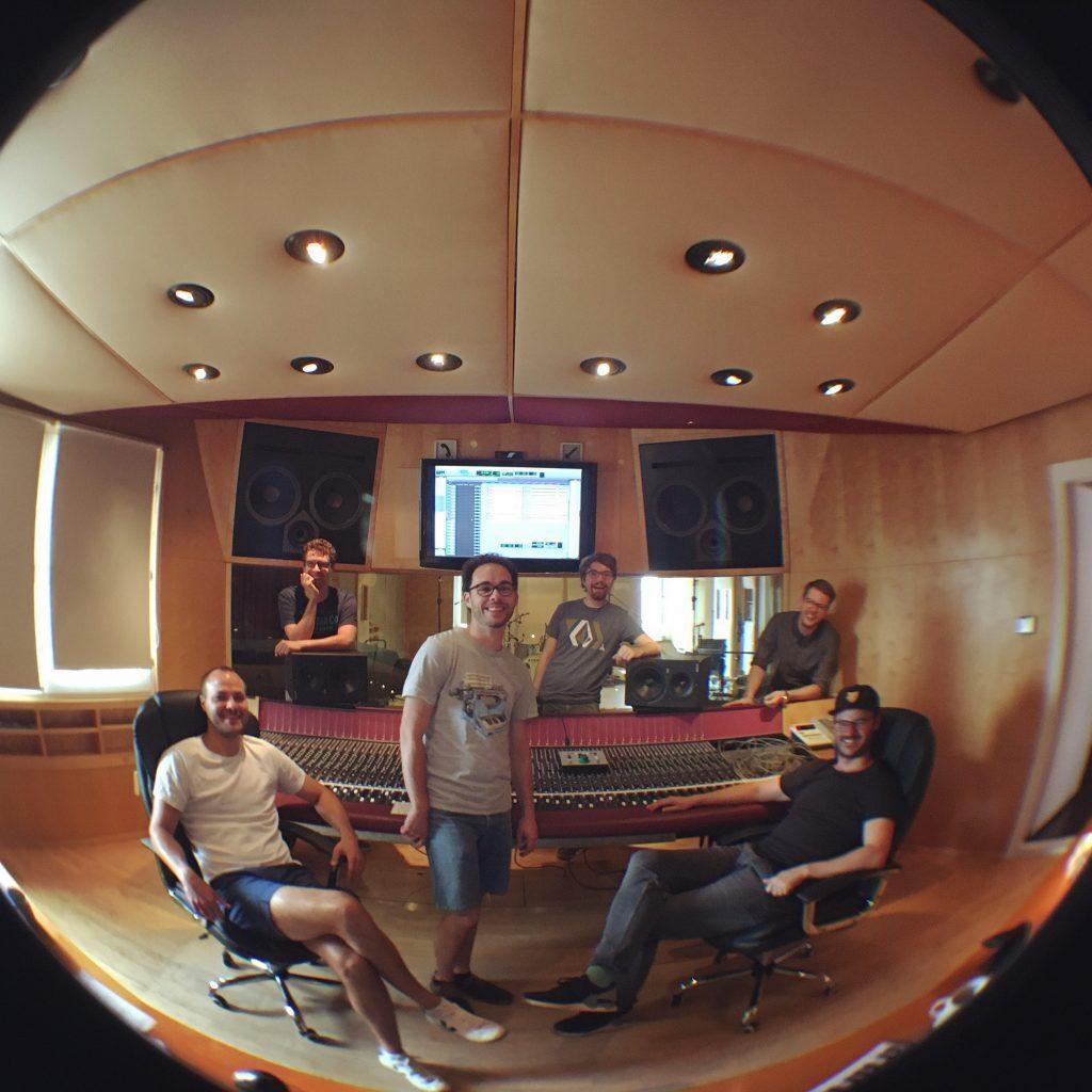 Die ganze Studio Crew vom Drum 'n' Bass Recording-Wochenende Ende Juli 2020.